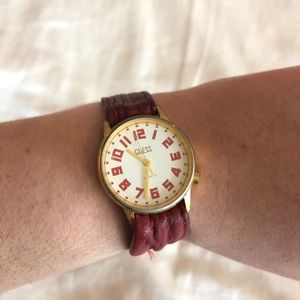 {Vintage} Guess | Red Leather Watch